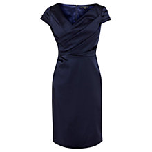 Buy Coast Lianna Duchess Satin Dress, Navy Online at johnlewis.com