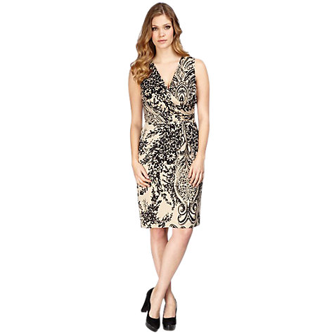 Buy Planet Floral Paisley Dress, Black Online at johnlewis.com