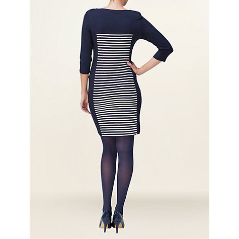 Buy Phase Eight Llinos Illusion Tunic Dress, Navy/Ivory Online at johnlewis.com