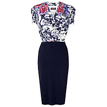 Buy Phase Eight Bea V-Neck Dress, Navy Online at johnlewis.com