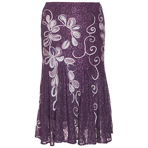Buy Chesca Cornelli Lace Skirt, Purple Haze Online at johnlewis.com