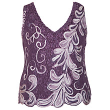 Buy Chesca Cornelli Lace Camisole, Purple Haze Online at johnlewis.com