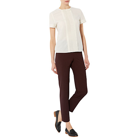 Buy NW3 by Hobbs Mini Check Trousers, Red Navy Online at johnlewis.com