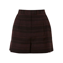 Buy NW3 by Hobbs Jacquard Shorts, Bordeaux/Black Online at johnlewis.com