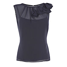 Buy Coast Steffie Top, Navy Online at johnlewis.com