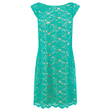 Buy Oasis Izzy Lace Top Dress, Turquoise Online at johnlewis.com