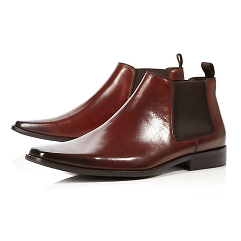 Buy Dune Arkwright Leather Chelsea Boots, Tan Online at johnlewis.com