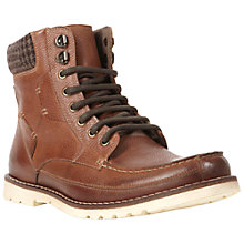 Buy Dune Cumbria Leather Lace Up Boots, Tan Online at johnlewis.com
