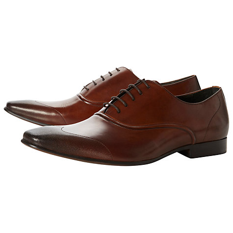 Buy Dune Aero Lightly Punch Detail Leather Oxford Shoes Online at johnlewis.com