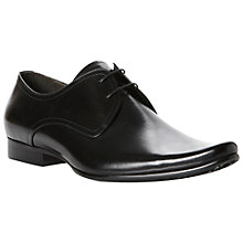 Buy Dune Andorra Leather Derby Shoes, Black Online at johnlewis.com