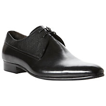 Buy Dune Anatation Leather Derby Shoes, Black Online at johnlewis.com