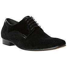 Buy Dune Ablaze Suede Derby Shoes, Black Online at johnlewis.com