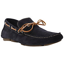 Buy Dune Beachy Suede Driver Shoes, Navy Online at johnlewis.com