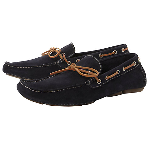 Buy Dune Beachy Suede Driver Shoes Online at johnlewis.com
