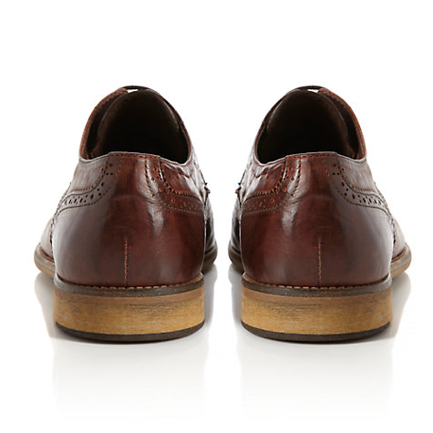 Buy Bertie Aston 2-Tone Brogue Derby Shoes, Brown Online at johnlewis.com