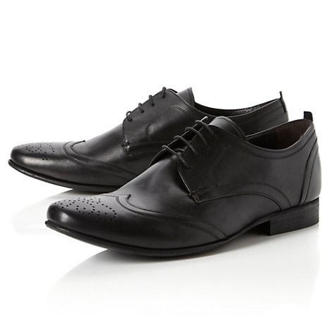 Buy Bertie Arnold Circus Leather Derby Shoes, Black Online at johnlewis.com