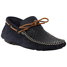 Buy Bertie Benzel Suede Driving Shoes, Navy Online at johnlewis.com