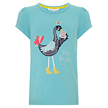 Buy John Lewis Girl Time for Tea T-Shirt, Blue Online at johnlewis.com