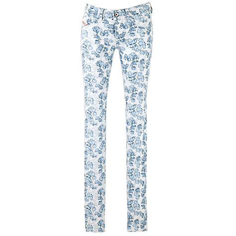 Buy Diesel Livier Super Stretch Jeggings, Blue Floral Online at johnlewis.com
