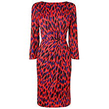 Buy L.K. Bennett Sarah Ikat Print Dress, Berry Online at johnlewis.com