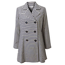Buy East Striped Coat, Dark Ensign Online at johnlewis.com