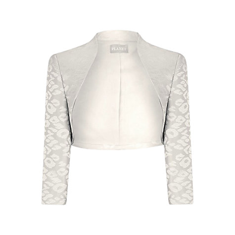Buy Planet Oyster Jacquard Bolero, Champagne Online at johnlewis.com