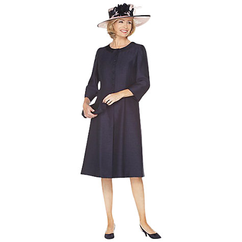 Buy Jacques Vert Monique Longline Dress Coat, Navy Online at johnlewis.com