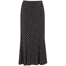 Buy Precis Petite Polka Dot Skirt, Black/White Online at johnlewis.com