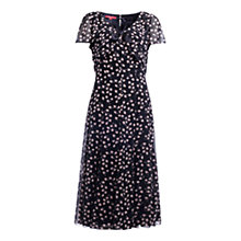 Buy Jacques Vert Blossom Dress, Navy/White Online at johnlewis.com