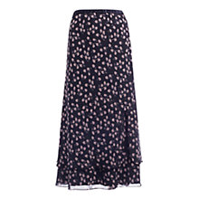 Buy Jacques Vert Blossom Skirt, Navy/White Online at johnlewis.com