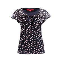 Buy Jacques Vert Blossom Print Top, Navy Online at johnlewis.com