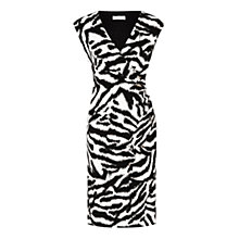 Buy Planet Zebra Print Jersey Dress, Black Online at johnlewis.com