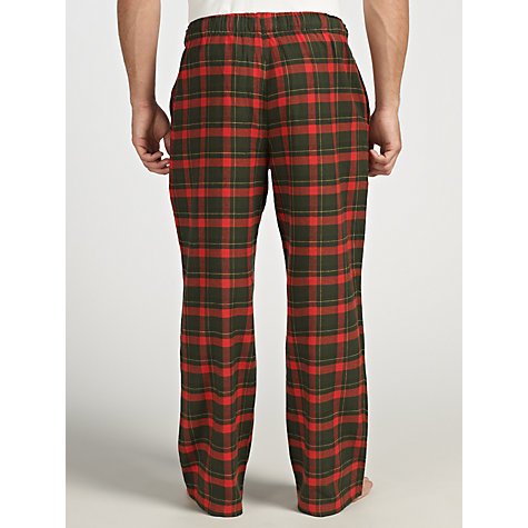 Buy John Lewis Brushed Cotton Cotton Check Pyjama Bottoms Online at johnlewis.com