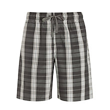 Buy John Lewis Check Cotton Lounge Shorts Online at johnlewis.com