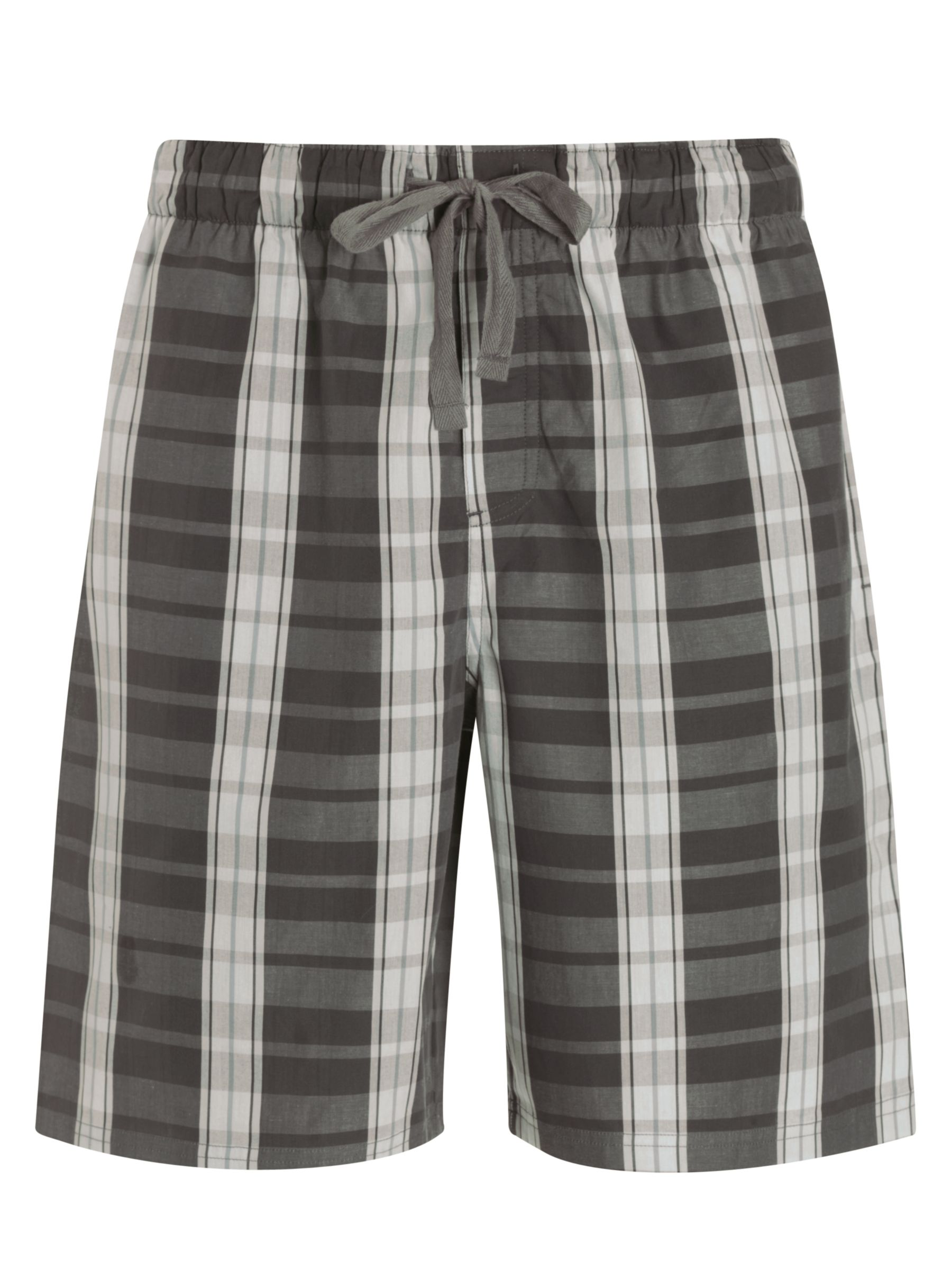 John Lewis Check Cotton Lounge Shorts