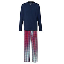 Buy John Lewis Long Sleeve T-Shirt and Check Lounge Pants Online at johnlewis.com