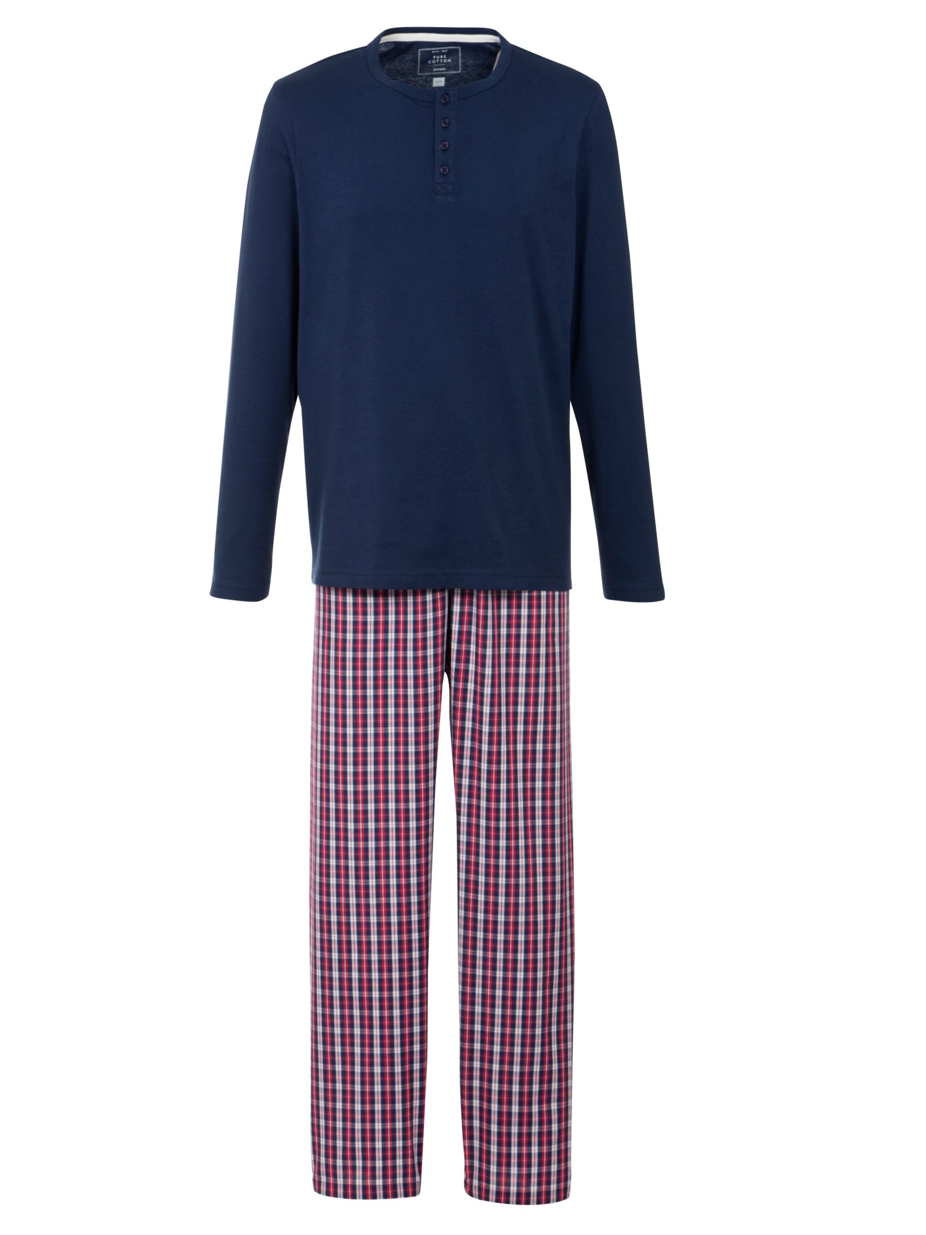 John Lewis Long Sleeve T-Shirt and Check Lounge Pants