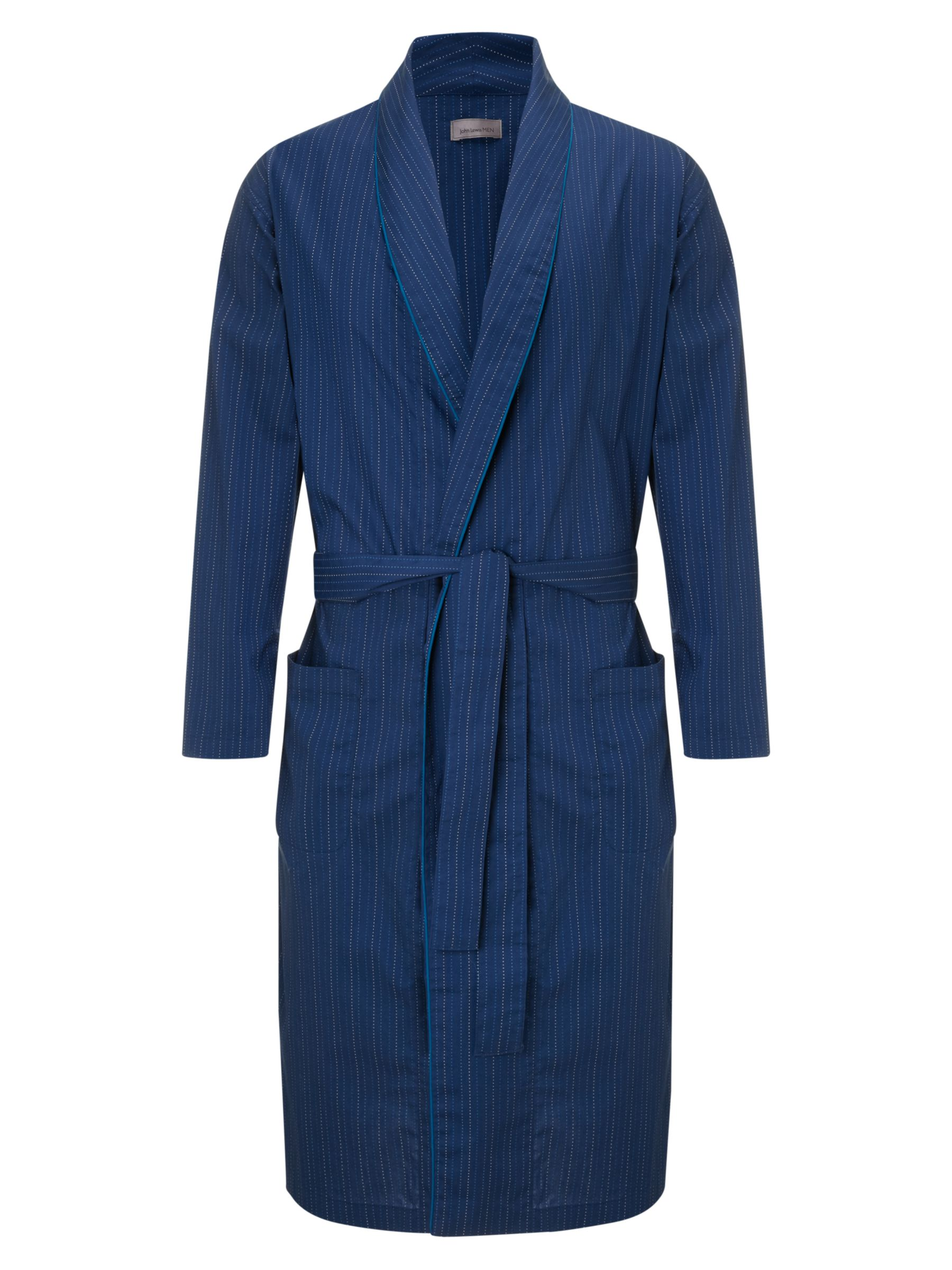 John Lewis Poplin Stripe Cotton Robe