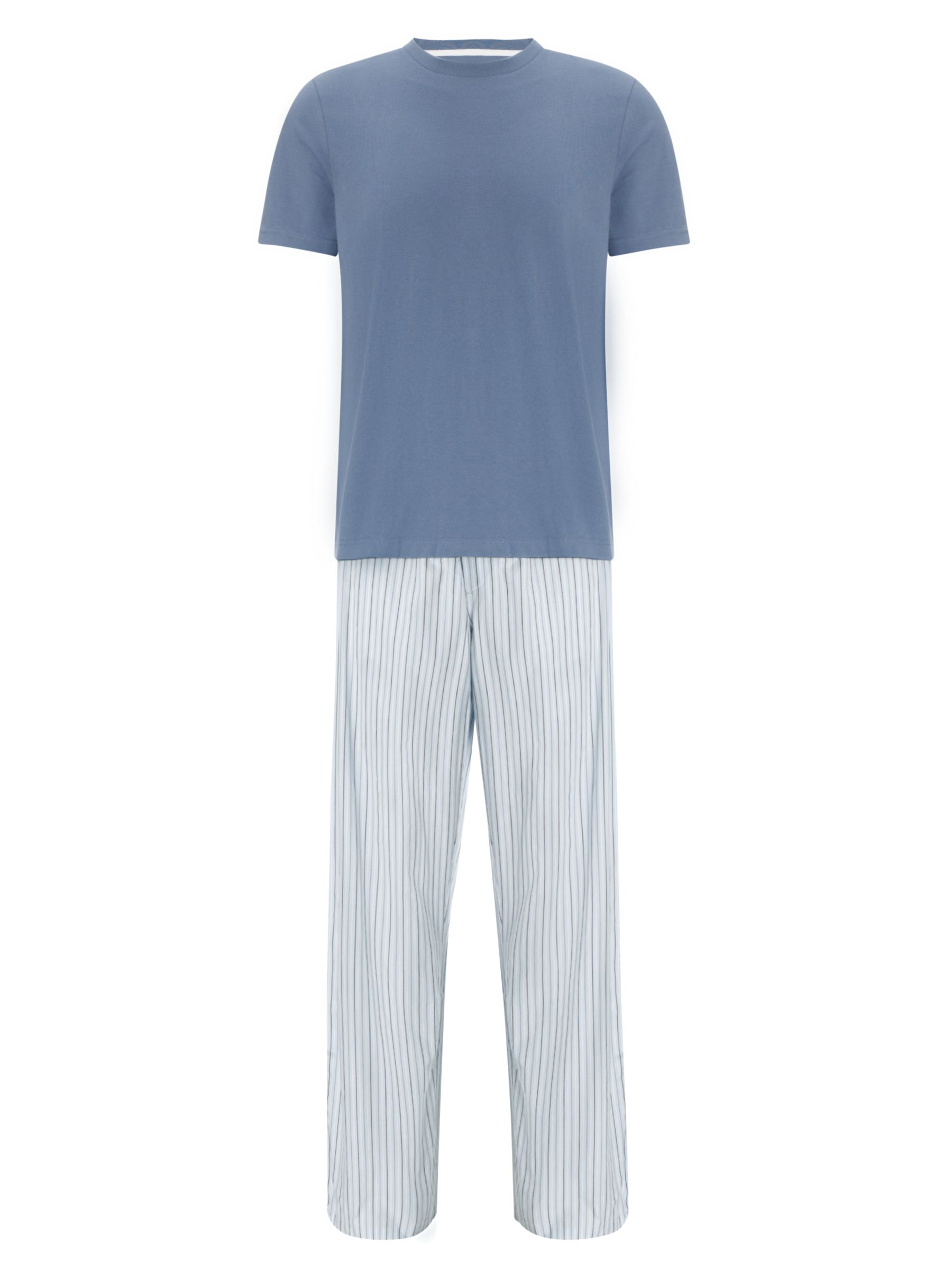 John Lewis Short Sleeve Stripe Lounge Pants