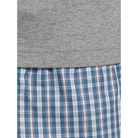 Buy John Lewis Short Sleeve T-Shirt and Gingham Lounge Pants Online at johnlewis.com