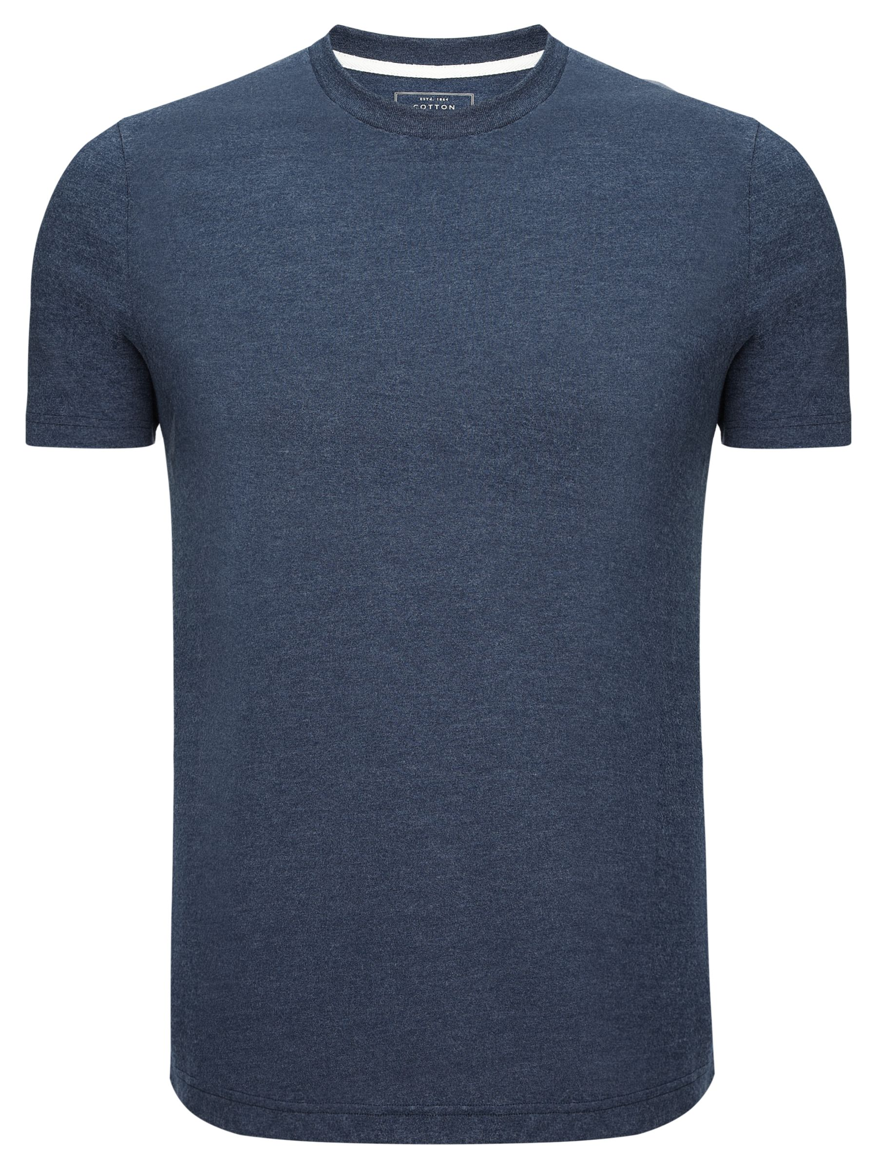 John Lewis Crew Neck Cotton Rich T-Shirt, Navy