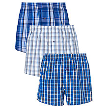Buy John Lewis Check Woven Boxer Shorts, Pack of 3 Online at johnlewis.com
