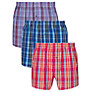 Buy John Lewis Bright Check Boxers, Pack of 3 Online at johnlewis.com