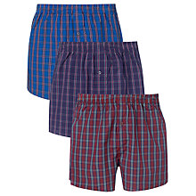 Buy John Lewis Multi Check Boxers, Pack of 3 Online at johnlewis.com