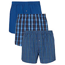 Buy John Lewis Checks and Stripes Woven Boxer Shorts, Pack of 3 Online at johnlewis.com