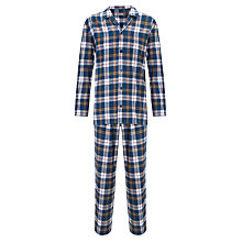Buy John Lewis Brushed Cotton Check Pyjamas Online at johnlewis.com