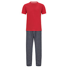 Buy John Lewis Short Sleeve T-Shirt and Brushed Cotton Check Pyjama Pants, Multi Online at johnlewis.com