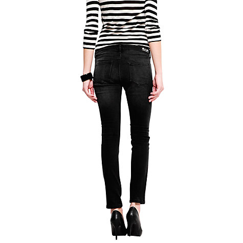 Buy Mango Studded Jeans, Black Denim Online at johnlewis.com