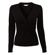 Buy East Twist Front Jumper, Black Online at johnlewis.com