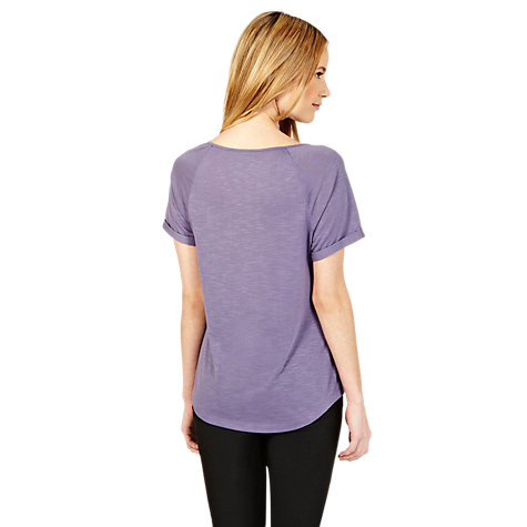 Buy Oasis Textured Raglan Top, Denim Online at johnlewis.com